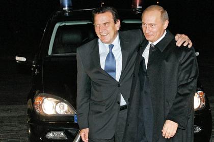Шредер не смог в угоду немцам отказаться от дружбы с Путиным