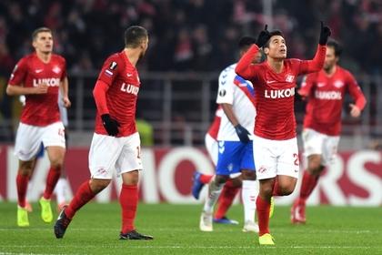 «Спартак» одержал первую победу в Лиге Европы