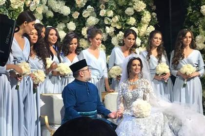 Стали известны подробности свадьбы «Мисс Москвы» и короля Малайзии