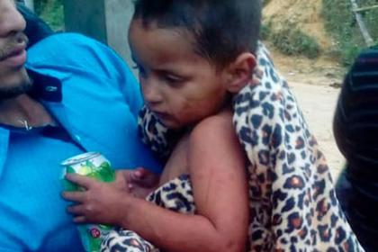 Двухлетний ребенок прожил пять дней в горах без еды и воды