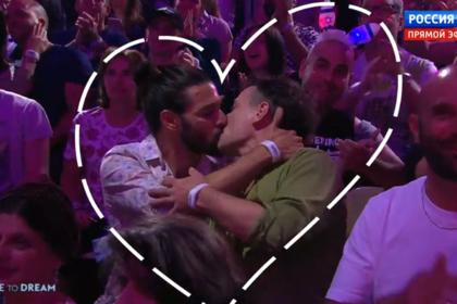 Поцелуй геев попал в эфир «России-1»