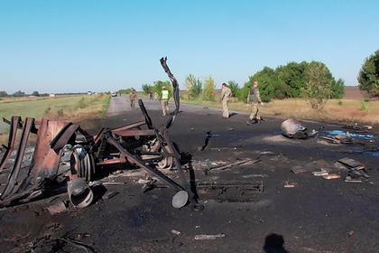 На Украине взорвалась колонна военной техники