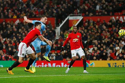 «Манчестер Юнайтед» дома проиграл середняку АПЛ