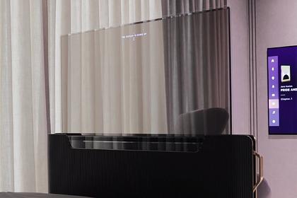 LG показала прозрачный телевизор