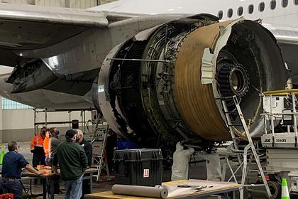Названа возможная причина возгорания двигателя Boeing 777