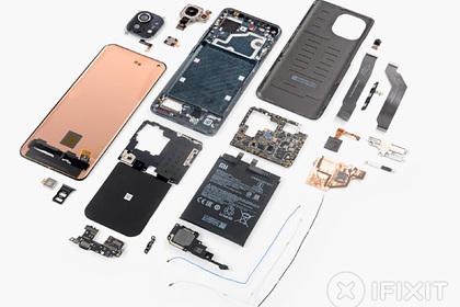 Показаны внутренности XiaomiMi11