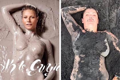 Полная блогерша рассмешила фанатов пародией на снимок Гвинет Пэлтроу топлес