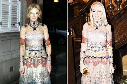 Рудковскую уличили в ношении копий брендовых нарядов Николь Кидман